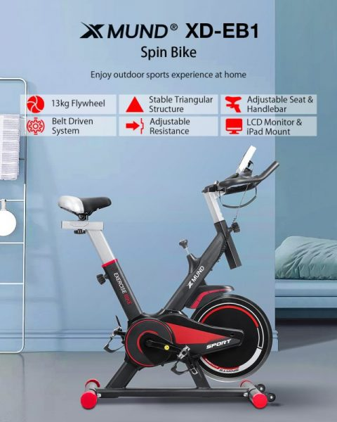 Xmund XD-XB1 LCD Exercise Bike Indoor Cycling