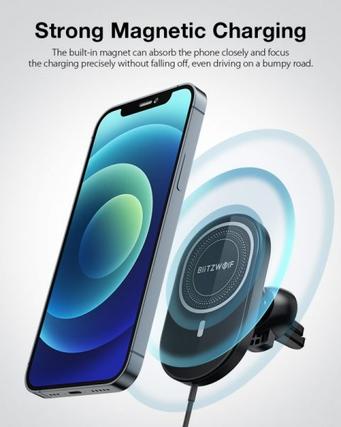 BlitzWolf BW-CW4 15W Car Magnetic Wireless Charger