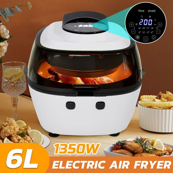 6L Air Fryer Healthy Cooker Low Fat Oil Free Kitchen Oven Timer Fritadeira 1350W