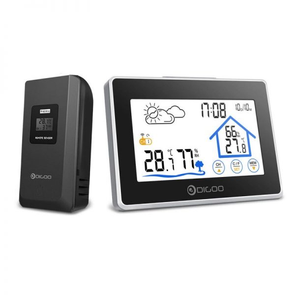 Digoo DG-TH8380 Wireless Thermometer Hygrometer Touch Screen Weather Station