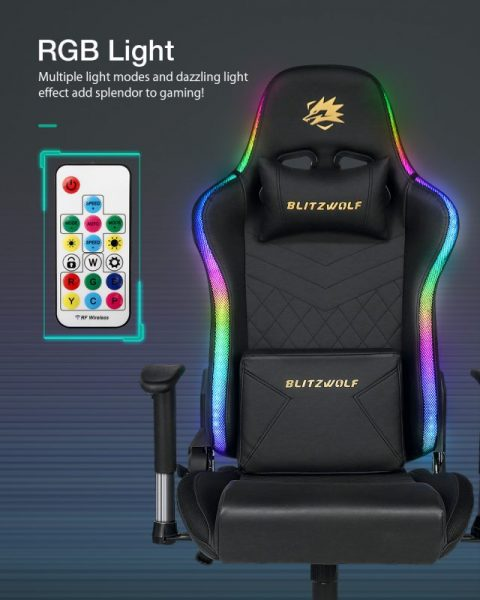 BlitzWolf BW-GC8 Gaming Chair with 7 RGB Lights