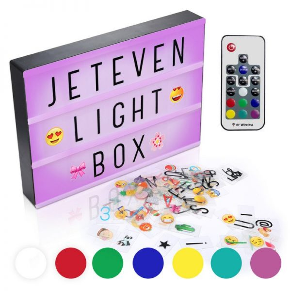 USB A4 7 Color Light Box With Remote Control Home Party Wedding Lamp